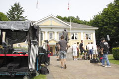 Cedar Cove Film Crew Royalty Free Stock Photos