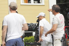 Cedar Cove Film Crew Royalty Free Stock Image