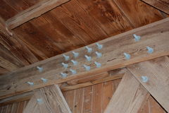 Cedar Covered Bridge Detail 2 Fotografía de archivo
