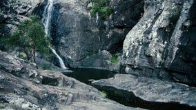 Cedar Creek Falls en el soporte Tamborine almacen de video