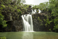 Cedar Creek Falls Proserpine Queensland. A beautiful view of Cedar Creek Falls in Proserpine in Queensland in Australia taken on a bright sunny day. This is stock image