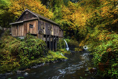 Cedar Creek Grist Mill fotografia stock libera da diritti
