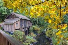 Cedar Creek Grist Mill at Fall Season Stock Photo