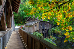 Cedar Creek Grist Mill In Washington State Royalty Free Stock Photo