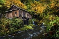 Cedar Creek Grist mill. The Cedar Creek Grist Mill in Washington in fall Royalty Free Stock Photo