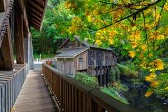 Cedar Creek Grist Mill in Washington State fotografia stock libera da diritti