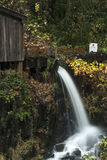 Cedar Creek Grist Mill Water Spout Royalty Free Stock Photography