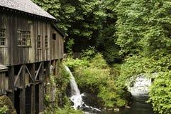 Cedar Creek Grist Mill. Waterfall at the Cedar Creek Grist Mill Royalty Free Stock Image