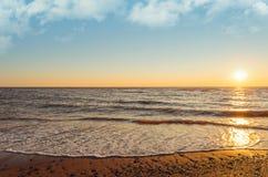 Cedar Dunes Beach på solnedgången Arkivbild