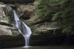 Cedar falls in Hocking Hills State Forest stock photos