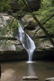 Cedar falls in Hocking Hills State Forest royalty free stock images
