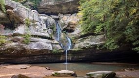 Cedar Falls in Hocking Hills. State park in Ohio Royalty Free Stock Images