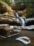 Cedar Falls, Hocking Hills, Ohio. Cedar Falls at an icy, snowy winter in Hocking Hills, Ohio in Logan stock photos