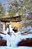 Cedar Falls In Winter Stock Photography