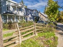 Cedar fence autumn scene Royalty Free Stock Photography