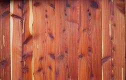 Cedar Fence vermelho oriental fotografia de stock royalty free