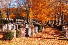 Cedar Grove Cemetery en automne Images libres de droits