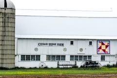 Cedar Hedge Quilt Farm - o Condado de Walworth, WI foto de stock royalty free