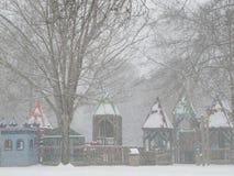Cedar Hill Park nella neve Fotografie Stock Libere da Diritti