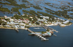 Cedar Key, Florida. Aerial view of Cedar Key, Florida, USA Royalty Free Stock Image