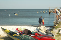 Cedar Key Kayaks Stock Image