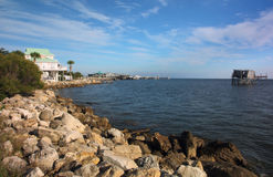 Cedar Key shoreline Royalty Free Stock Image