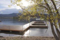 Cedar Marine Dock For Mooring Stock Photography