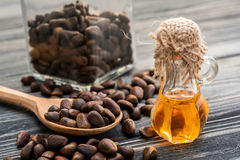Cedar oil and nuts Stock Images