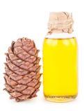 Cedar oil and nuts Stock Photos