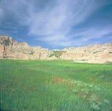 Cedar Pass Area - parc national de bad-lands Photographie stock