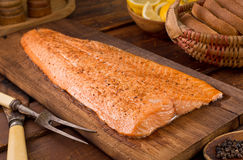 Cedar Planked Salmon stock images