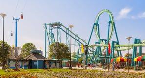 Cedar Point nöjesfält, Ohio Fotografering för Bildbyråer