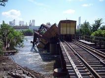 Cedar Rapids, de Vloed van Iowa van 2008 royalty-vrije stock fotografie
