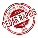 Cedar Rapids stamp with white background Royalty Free Stock Photos