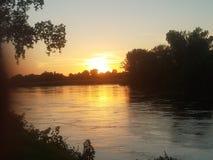 Cedar river stock image