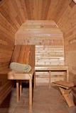 Cedar sauna Stock Image