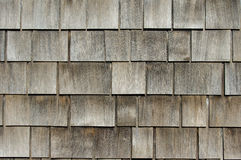 Cedar shake shingles on roof Stock Photo