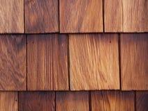 Cedar shingle detail. Detail of a nicely weathered cedar shingle wall Royalty Free Stock Photo