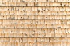Cedar shingle wall exterior Royalty Free Stock Photos