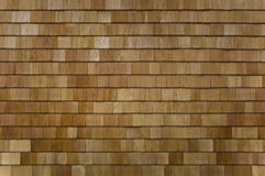 Cedar Shingled Wall or Roof Section Stock Photography