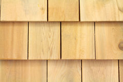 Cedar shingles. Several wood cedar shingles for siding or roofs Royalty Free Stock Photography