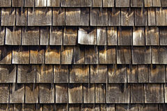 Cedar shingles. For siding and roof Stock Photos