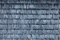 Cedar Shingles during a cold Winter Day. Cedar Shingles with Snow during a cold Winter Day Royalty Free Stock Images