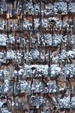 Cedar Shingles pendant un jour d'hiver froid Photos libres de droits