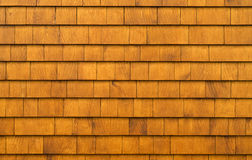 Cedar Shingles. Rustic background texture Royalty Free Stock Photography
