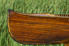 Cedar strip handmade canoe Stock Images