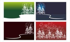 Cedar Tree Background Template Set illustration de vecteur