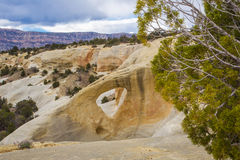 Cedar Wash Arch. In Grand Staircase-Escalante National Monument, Utah Stock Photography