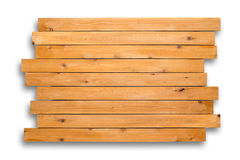 Cedar wood background of staggered boards Royalty Free Stock Photography
