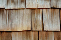Cedar wood siding, background Stock Photos